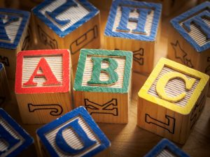 Learning the ABCs in Meadow Montessori School